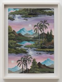 Palm Valley (Day Moon) by Neil Raitt contemporary artwork painting, works on paper