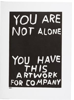 You are not alone by David Shrigley contemporary artwork