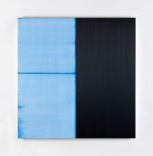 Untitled Lamp Black / Delft Blue by Callum Innes contemporary artwork