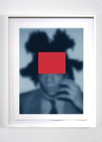 Blue Notes (Basquiat): Who's Who or a Pair of Aces #1 by Carrie Mae Weems contemporary artwork painting, works on paper, drawing