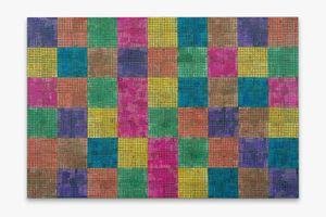 Modern:Ancient:Brown by McArthur Binion contemporary artwork