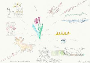 #576 wolle spielt beim reim ne rolle by Tomas Schmit contemporary artwork