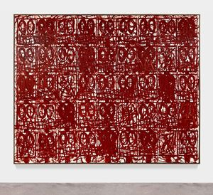Anxious Red Painting August 20th by Rashid Johnson contemporary artwork