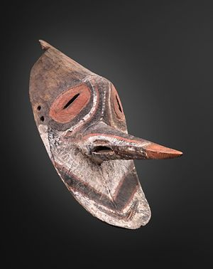 yamburai brag (danse mask representing an ancestral spirit) by Melanesia contemporary artwork