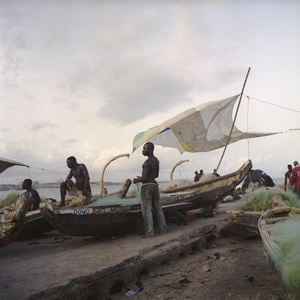 La voile à James Town, Ghana by Denis Dailleux contemporary artwork