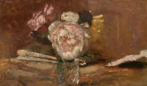 Roses dans un vase de verre by Edouard Vuillard contemporary artwork