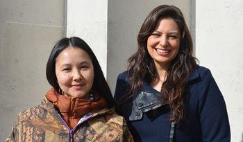 Candice Hopkins and Asinnajaq