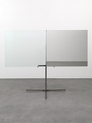 Mezzo specchiato mezzo transparente (Half Mirrored Half Transparent) by Luciano Fabro contemporary artwork