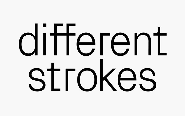 Different strokes Curated by Marcus Jahmal