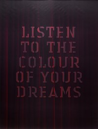 Listen to the colour of your dreams (red) by Mary-Louise Browne contemporary artwork sculpture