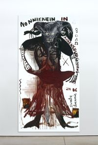 Nonninei in Ahrensburg by Jonathan Meese contemporary artwork painting