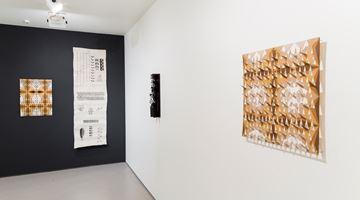 Contemporary art exhibition, Lonnie Hutchinson, Cora-Allan Wickliffe, Pacific Samplers at Bartley & Company Art, Wellington
