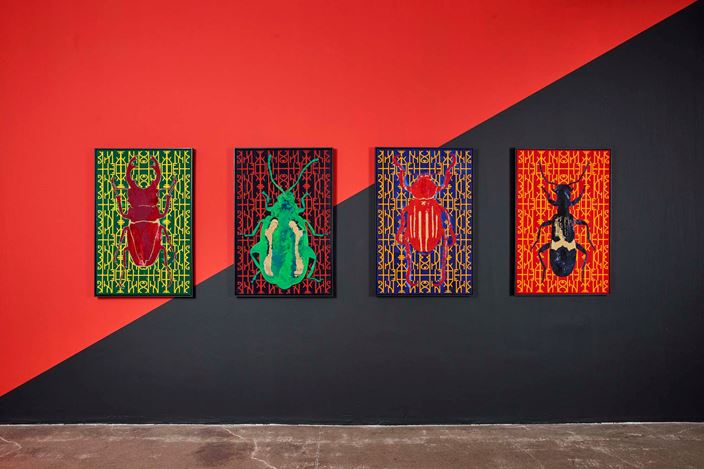 Exhibition view: Kendell Geers, In Gozi We Trust, Goodman Gallery, Johannesburg (23 November 2019–25 January 2020). Courtesy Goodman Gallery.