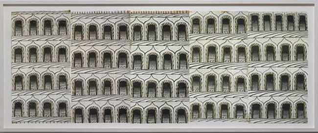 Untitled (Arches, 5 Panels) by Martín Ramírez contemporary artwork