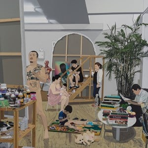 Painter and Family by Chen Fei contemporary artwork