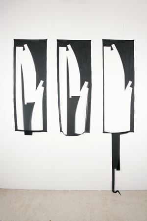 Lasciar cadere (triptych 1) by Marion Baruch contemporary artwork