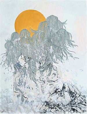 going places (weeping willows), ''reunited'' by Crystal Liu contemporary artwork