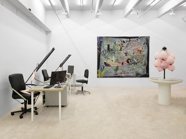 Exhibition view: LaureProuvost, Lisson Gallery, New York (9 March–14 April 2018). © Laure Prouvost. Courtesy Lisson Gallery.