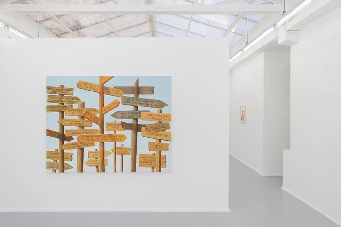 Exhibition view: Sean Landers, rodolphe janssen (7 November–12 December 2019). Courtesy the artist and rodolphe janssen, Brussels. Photo: HV photography.
