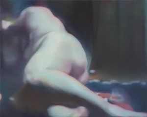 Figure in a green room by Johannes Kahrs contemporary artwork