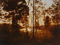 Fall Forest Light by April Gornik contemporary artwork painting