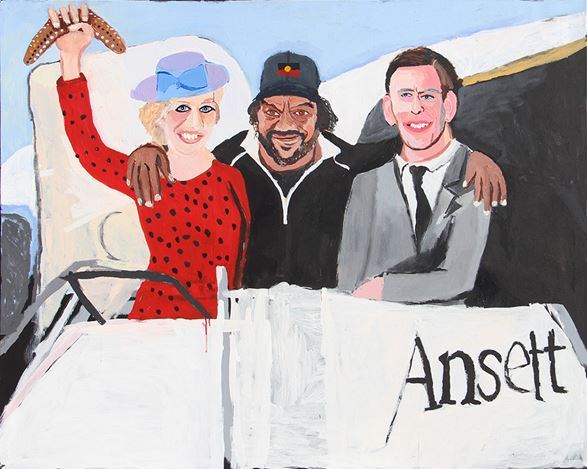Vincent Namatjira,The Royal Tour (Diana, Vincent and Charles), (2020). Courtesy THIS IS NO FANTASY dianne tanzer + nicola stein