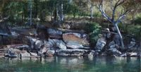 Rocky Point, Broken Bay (Hawkesbury 15) by A.J. Taylor contemporary artwork painting