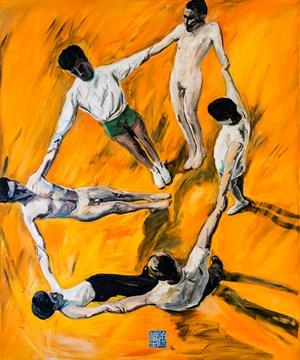 Circle Of Friends 一群朋友 by Fu-sheng Ku contemporary artwork