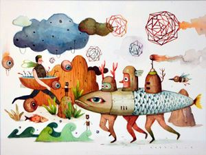 Space Dialogue by Gatot Indrajati contemporary artwork