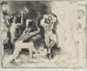 La danse des faunes by Pablo Picasso contemporary artwork