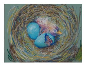 Robin's nest 3 by John Kelsey contemporary artwork