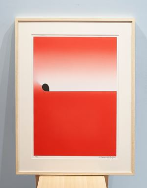 Light Beaming Red Square by Sadamasa Motonaga contemporary artwork