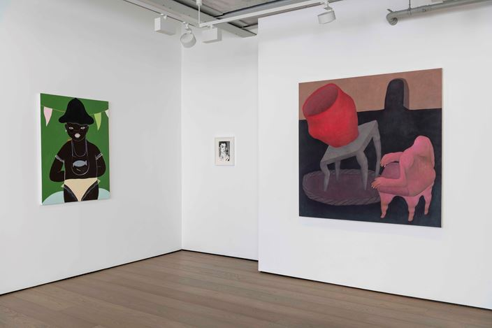 Exhibition view: Group Exhibition, Early 21st Century Art, Almine Rech Gallery, London (2 October–17 November 2018). Courtesy Almine Rech Gallery. Photo: Melissa Castro Duarte.