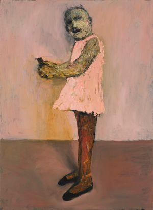 Girl with grenade by Niyaz Najafov contemporary artwork painting