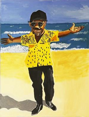 Self-Portrait (Miami Beach 1) by Vincent Namatjira contemporary artwork