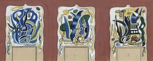 Projet pour le manteau de la cheminée de la demeure de Nelson Rockefeller à Pocantico, New York by Fernand Léger contemporary artwork