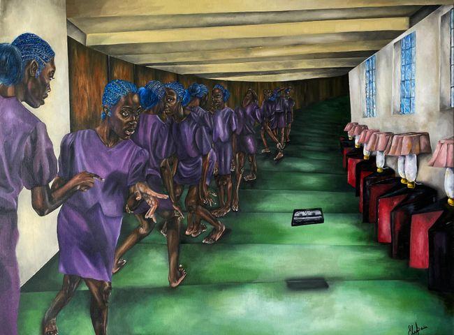 """Ka Chifoo"""" is also a way to come back (diptych) by Ekene Emeka-Maduka contemporary artwork"""