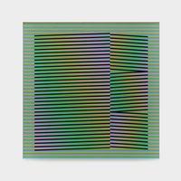 Induction Chromatique N°212 by Carlos Cruz-Diez contemporary artwork painting
