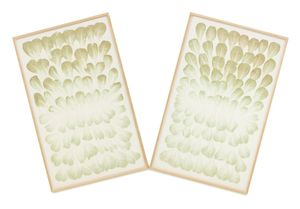 Edibles Diptych - Meidi-Ya, Genting Garden, Salads Royale, 162 and 127g by Haegue Yang contemporary artwork
