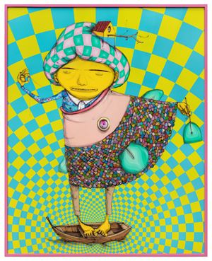 On the lake inside the ocean by OSGEMEOS contemporary artwork