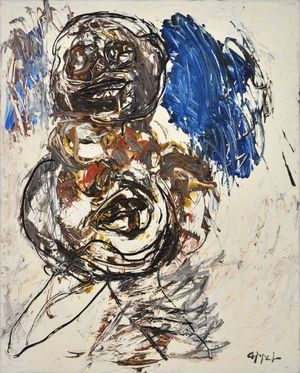 Nude (Nude Series) by Karel Appel contemporary artwork painting