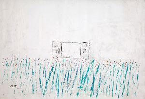 Window Shutters and Gladiolas 《百葉窗劍蘭》 by Yeh Shih-Chiang contemporary artwork