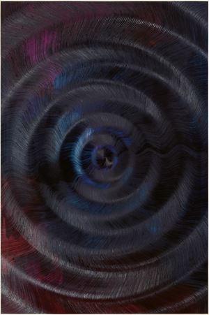 Coalescence (Cloud Gradient, Ivory Black, Madder Carmine) by Giacomo Santiago Rogado contemporary artwork
