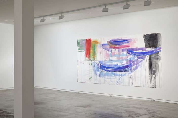 Exhibition view: Gretchen Albrecht, Collages, Two Rooms, Auckland (6 March–9 April 2020). Courtesy Two Rooms.