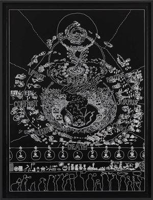 BOB Thangka by Ian Cheng contemporary artwork