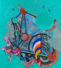 Galactic Journal: Antibes Vert (aka School Colors #2) by Robert Reed contemporary artwork painting