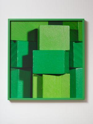 ICON green (iii) by Shaun Waugh contemporary artwork