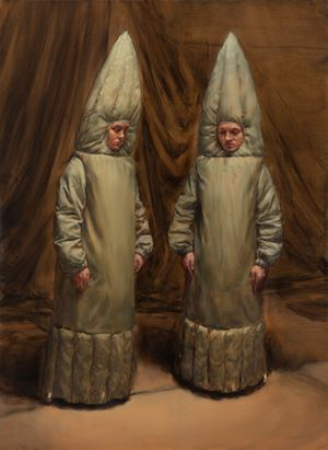 What Else Could They Do? by Michaël Borremans contemporary artwork painting