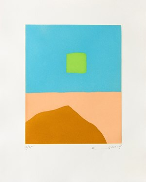 Feu du désert (Le) by Etel Adnan contemporary artwork