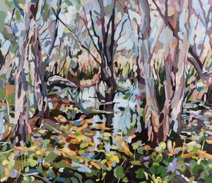 Paperbark Swamp (Waterlillies) by Oliver Watts contemporary artwork